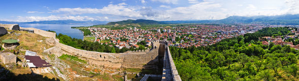 Old ruins of castle in Ohrid, Macedonia Royalty Free Stock Image
