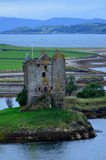Old Ruins of Castle Stalker in Scotland Stock Photo
