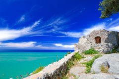 Old ruins at Cefalu Stock Images