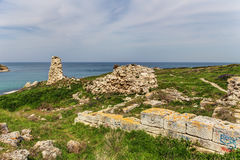 Old ruins in Chersonesos Stock Photography