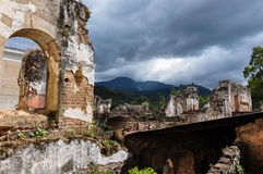 Old ruins in the colonial city of Antigua, Guatemala Stock Photography