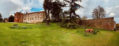 Old ruins in Farnham stock photography