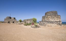 Old ruins on Fuerteventura royalty free stock images