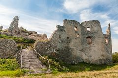Old ruins of historical castle Oponice royalty free stock photos