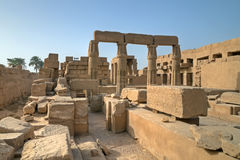 Old ruins in Karnak temple Royalty Free Stock Images