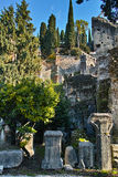 Old ruins landscape and ancient artefacts Royalty Free Stock Photography