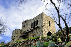 Old ruins of Lifta village. Royalty Free Stock Photo