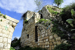 Old ruins of Lifta village. Stock Photos