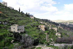 Old ruins of Lifta village. Stock Photo