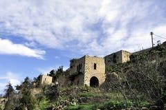 Old ruins of Lifta village. Royalty Free Stock Photos