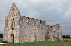 Old ruins of a medieval cathedral. Royalty Free Stock Photo