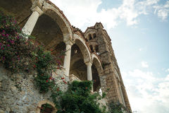 The old Ruins of Mystras. In greece Royalty Free Stock Photos