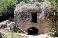 Old ruins in Nahal Amud gorge, Israel Stock Photo