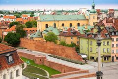Old ruins near castle square in Warsaw Royalty Free Stock Photography