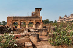Old ruins near Orchha Palace Stock Images
