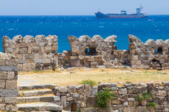 Old ruins of Neratzia, in Kos,  Greece Royalty Free Stock Photo