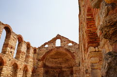 Old ruins in Nessebar Stock Photo