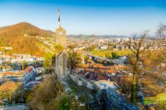 Free Old Ruins Of The Mediaval Stein Castle In Baden, Switzerland Royalty Free Stock Photo - 160830885
