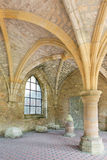 Old ruins of Orval. Old ruins of the famous 18th century Orval Abbey in the Gaume region in Belgium Stock Image