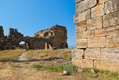 Old ruins at Pamukkale Turkey Royalty Free Stock Photography