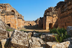 Old ruins at Pamukkale Turkey Stock Images