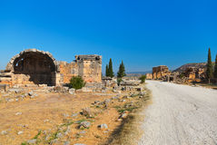 Old ruins at Pamukkale Turkey Royalty Free Stock Images