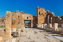 Old ruins at Pamukkale Turkey Royalty Free Stock Photo