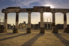 Old ruins in Pompeii, Italy. Old ruins in the antique site of Pompeii, Italy Royalty Free Stock Photography