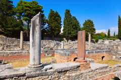 Old ruins in Salona, Croatia. Archaeology background Stock Photos