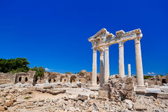 Old ruins in Side, Turkey Stock Photo