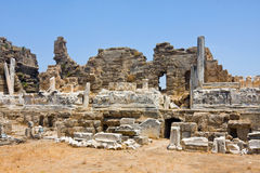 Old ruins in Side Stock Images