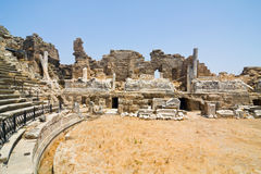Old ruins in Side Royalty Free Stock Photo