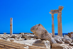 Old ruins in Side, Turkey Royalty Free Stock Images