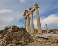 Old ruins in Side, Turkey Stock Photography