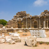 Old ruins in Side, Turkey Royalty Free Stock Photography