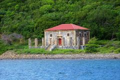 Old ruins in St Thomas stock photos