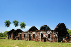 Old ruins in Trinidad. Paraguay Stock Image