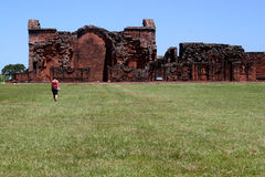 Old ruins in Trinidad. Paraguay Royalty Free Stock Photos