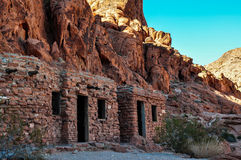 Old ruins in Valley of Fire Provincial Park, Nevada, USA Royalty Free Stock Photography