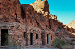 Old ruins in Valley of Fire Provincial Park, Nevada, USA Royalty Free Stock Photos