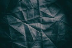 Old rumpled crumpled paper texture. Or background Stock Photos