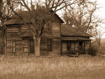 Old Run-down Farm House. Old Run-down Haunted Farm House - Historical Site Stock Image