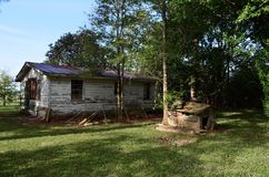 Louisiana Abandoned Home 01 first real glimpse royalty free stock photo