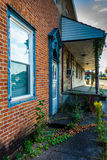 Old, run-down house in Abbottstown,  Pennsylvania. Royalty Free Stock Image