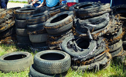 Old run down tires Stock Images