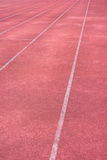Old run track and white line Stock Photo