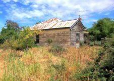 Old rundown country home in country Australia Royalty Free Stock Photo