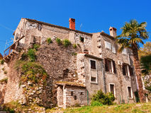 Old rundown Mediterranean house. In small town on Adriatic coast Royalty Free Stock Photo