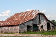 Old rundown wood barn Stock Photos