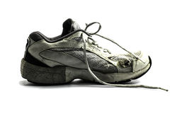Old running shoe Stock Photo